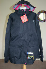 BNWT ladies TRESPASS PU coated jacket coat showerproof TP75 size 2XL UK 18