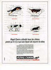 PUBLICITE ADVERTISING 054  1990  ROYAL CANIN   aliments chien cynotechnique