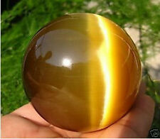 Hot Sell ASIAN QUARTZ TIGER EYE CRYSTAL HEALING BALL SPHERE 80MM% + STAND#