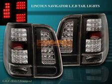03 04 05 06 LINCOLN NAVIGATOR BLACK LED TAIL LIGHTS 4 PIECES SET