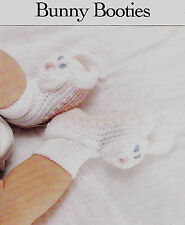 Crochet Pattern ~ BABY BUNNY BOOTIES Easter ~ Instructions