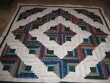 UNFINISHED HANDMADE QUILT TOP  approx 72  X  72     inches