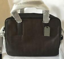 AllSaints Slate Grey leather Boundary workbag messenger briefcase bag  132200