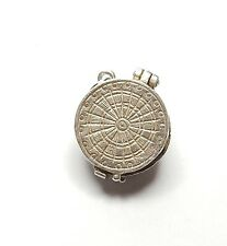 Vintage 925 Sterling Silver DARTBOARD OPENS TO DARTS Charm Pendant 3.3g