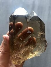 Twin Smoky Golden Citrine Cathedral Quartz Crystal Point Brazil Water Facet