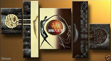 Hand-painted Modern Abstract Oil Painting On Canvas Art Decor Wall 5PC(No frame)