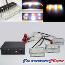 3 Mode 18 LED Hazard Warning Flashing Light Amber White Special Edition Lens Set