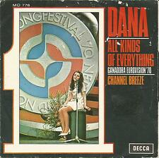"""DANA (WINNER EUROVISION 70)-ALL KINDS OF EVERYTHING + CHANNEL BREEZE SINGLE 7"""""""