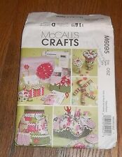 McCall's 6095 Sewing Machine Cover, Pin Cushion, Apron, Button Doll Pattern