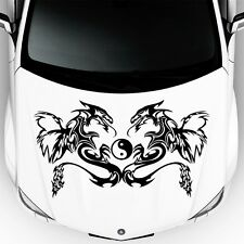 Car Hood Auto Decal Dragon Animal Yin Yang Symbol Vinyl Sticker Decor DA127