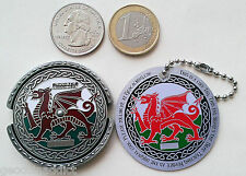 ☆☆ ROT13 Decoder Welsh Dragon Spinner Geocoin &tag Set Trackable