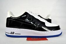 NEW Nike Air Force 1 Low CONCORD WHITE BLACK PATENT LEATHER 488298-058 sz 10