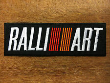 RALLIART MITSUBISHI Embroidered Patch Iron On Applique Racing Motor Sports Logo