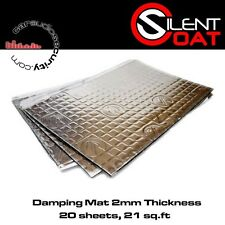 Silent Coat - 2mm Sound Damping Volume Bulk Pack 20 Sheets 375 x 265 mm