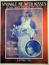 Sprinkle Me With Kisses If You Want My Love To Grow 1915 Antique Sheet Music