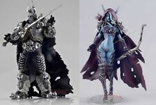 World of Warcraft Forsaken Queen Sylvanas & Lich King Arthas Lot 2 Figure Set