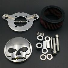 Cr Skull Eye Air Cleaner Intake Filter System Kit Harley Sportster XL883 XL1200