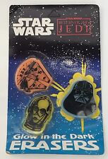Vintage Star Wars Glow In The Dark Erasers 1983 ROTJ School Supplies