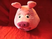 PLUSH DISNEY STORE JUNGLE JUNCTION ZOOTER PINK PIG 10'' SOFT TOY PLASTIC WHEELS
