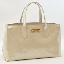 Authentic Louis Vuitton Monogram Wilshire Hand Bag White M91452 #U620 E