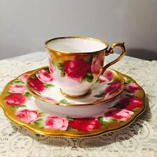 GORGEOUS VINTAGE ROYAL ALBERT CUP, SAUCER AND CAKE PLATE TRIO