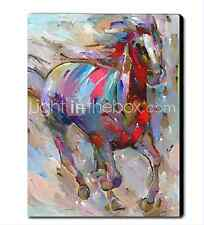 Hand-painted Modern Abstract Wall Art Large Oil Painting Running horse steed