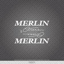 01221 Merlin Oreas Bicicletta Adesivi-Decalcomanie-Trasferimento-Bianco