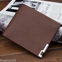 MENS LUXURY LEATHER BIFOLD WALLET PURSE CREDIT CARD HOLDER CLUTCH WALLET POCKETS