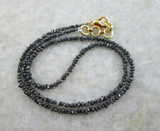 "Uncut Black Diamond Necklace-18 "". 5 mm Beads.AAA.Certified."