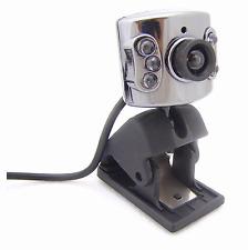 New Mini USB 6 LED Web Webcam Camera With Microphone Mic PC Laptop Skype #155