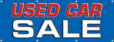 """""""USED CAR SALE BANNER SIGN 96in. x 36in Multi Color Pre-Owned Cars Banners 3X8"""