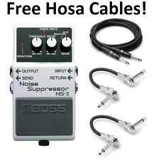 New Boss NS-2 Noise Suppressor Pedal FREE Hosa Cables!