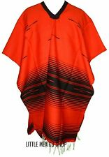 SERAPE BLANKET Mexican PONCHO - TRIBAL RED BLACK - ONE SIZE FITS ALL Blanket