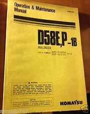 D58E,P-1B Operation & Maintenance Manual Komatsu