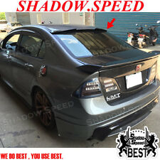 Unpainted ABS W Type Rear Sport Roof Spoiler For Honda CIVIC 2006~2012 Sedan ✪