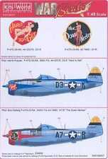 Kits World Decals 1/48 P-47D THUNDERBOLT Hard to Get & The Down Necker