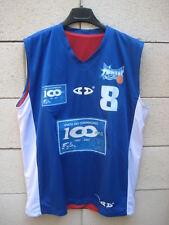 Maillot basket porté US DAMME n°8 Enghien les Bains match worn shirt L