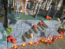 HALLOWEEN Magestic STAIRCASES Village Display platform base 42x12 Dept 56 Lemax