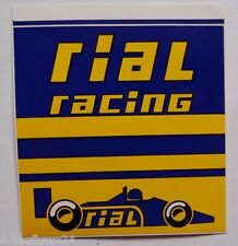 Aufkleber RIAL RACING F1 Ford Cosworth 80er Jahre Decal Sticker Formula 1 gross
