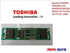 Genuine TOSHIBA 75013091 LCD INVERTER MASTER SINGLE 1ST for EOL LCD TV 42'' :NEW