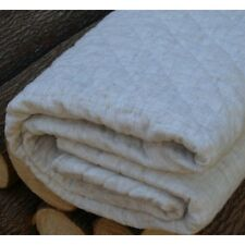 Quilted Cotton Throw Rug Blanket Quilt Ecru Linen Look French Style