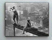 Rare Framed Vintage Skyscraper Golf Photo. Jumbo Giclée Print