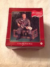 Carlton Cards Vintage Ornament Elvis Presley A Long Way From Home Plays Music