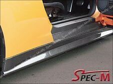 V Style Carbon Fiber Side Skirts Replacement Fit Nissan GT-R GTR R35 09-12 CF