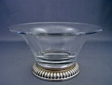 Vintage BIRKS Sterling Silver Crystal Candy Bon Bon Nut Center Dish Bowl