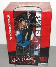 "New!! Nice!! McFarlane Toys LARGE 12"" ELVIS PRESLEY '68 Comeback Special FIGURE"