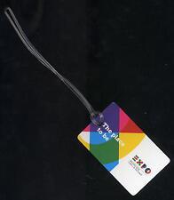 EXPO MILANO food adevrtising logo baggage tag étiquette de bagage memorabilia ax