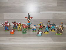 Lot of 14 figures Old Britans cowboy, indian & soldier a.o. look scan !