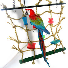 1pc Acrylic Rope Net Swing Ladder Toy for Parrot Birds Pet Chew Play Climbing