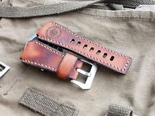 24mm   Handmade quality leather watch strap,army  , Panerai